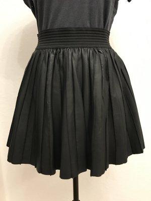 Zara Falda de cuero negro