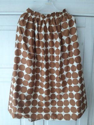 B.yu Italy Midi Skirt white-brown