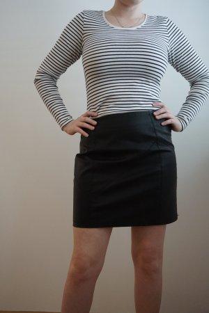 Noisy May Faux Leather Skirt black polyurethane
