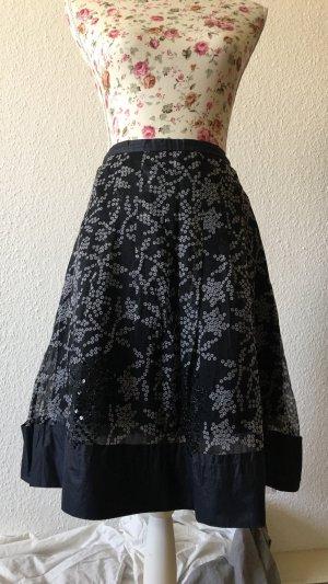 Ambiente Falda de seda negro-gris antracita