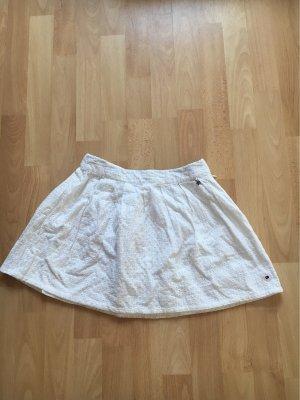 Tommy Hilfiger Denim Skater Skirt white