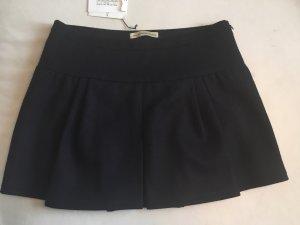 Balenciaga Plaid Skirt dark blue wool