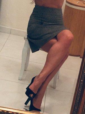 Flared Skirt black-grey