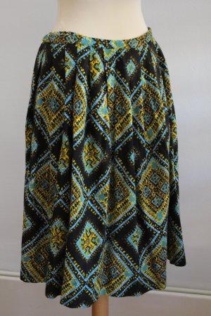 Jupe à plis multicolore coton