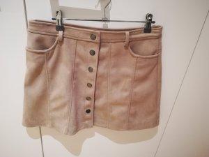 TRF Falda de cuero de imitación crema Imitación de cuero