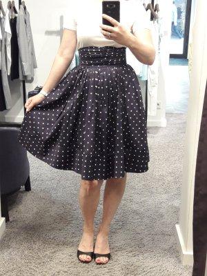 Polo Ralph Lauren High Waist Skirt blue cotton
