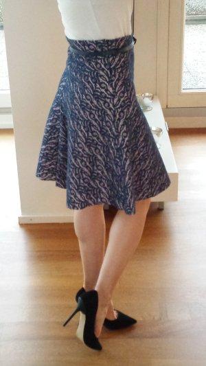 High Waist Skirt pink-blue