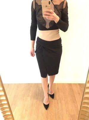 Anna Rita N Pencil Skirt black-cream