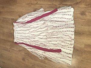 Blugirl Blumarine Falda larga blanco-rosa neón tejido mezclado