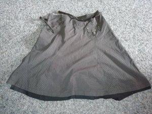 Asymmetrische rok bruin-zwart