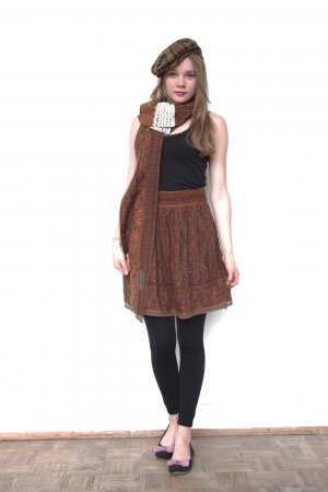 Flared Skirt multicolored cotton