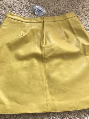 Orsay Leather Skirt yellow imitation leather