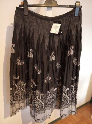 Falda midi gris antracita