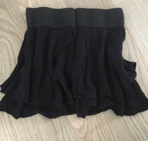 H&M Wraparound Skirt black viscose