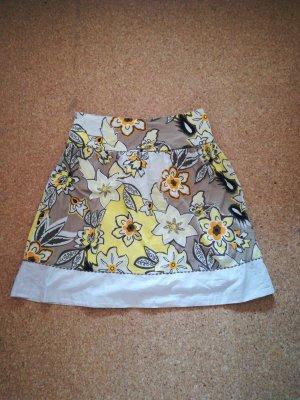 Ichi Falda circular beige claro-amarillo pálido