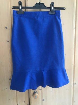 Club Monaco Flounce Skirt blue-neon blue