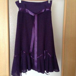 Falda acampanada violeta oscuro Acrílico
