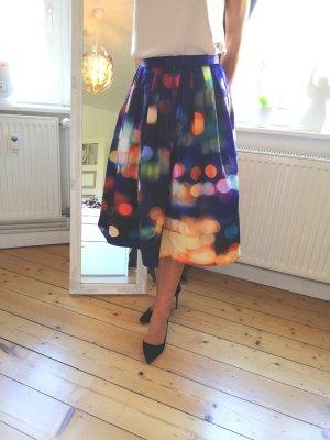 Chicwish Flared Skirt dark blue
