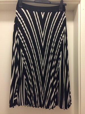H&M Jupe plissée noir-blanc