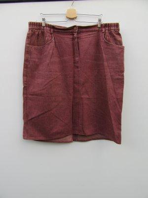 Rock Damen Jeans rot Vintage Retro Gr. 52