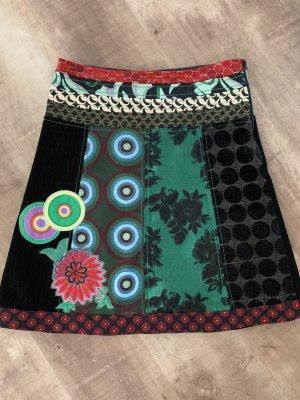 Desigual Asymmetry Skirt black-red