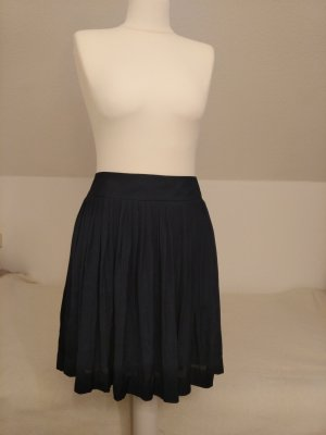 Esprit Pleated Skirt dark blue mixture fibre