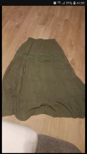 Falda stretch gris verdoso