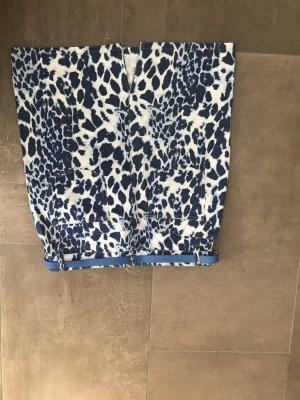 Amy Vermont Denim Skirt dark blue-white