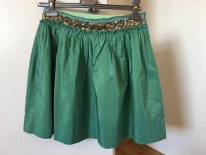 Falda de tafetán verde grisáceo-verde claro