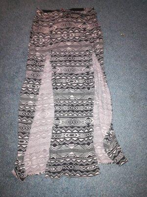 H&M Divided Falda larga blanco-negro