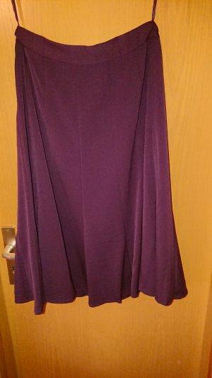Jupe en laine violet