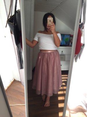 Amisu Falda de tul rosa empolvado