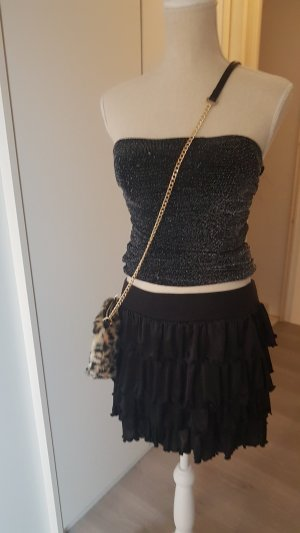 Gelaagde rok zwart