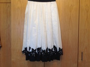 Alexander Flared Skirt natural white-black