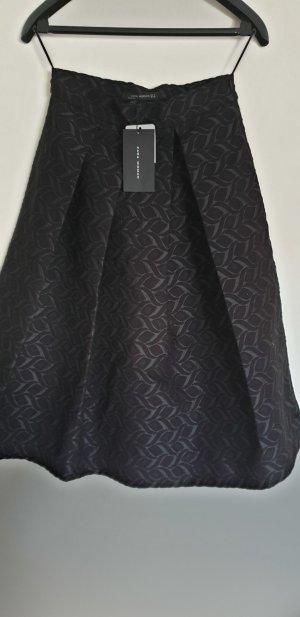 Zara Woman Falda de talle alto negro