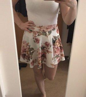 Plaid Skirt white