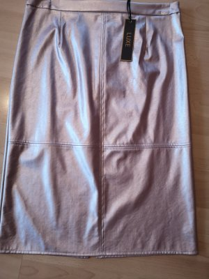Dorothy Perkins Faux Leather Skirt rose-gold-coloured