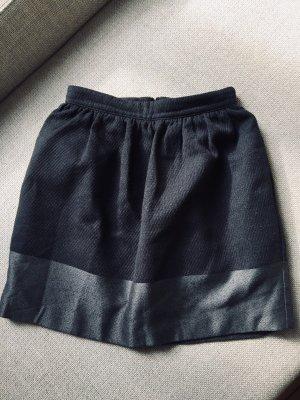 Mango Suit Falda globo negro-gris