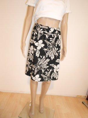 Rock gr 34 H&M schwarz/weiß floral