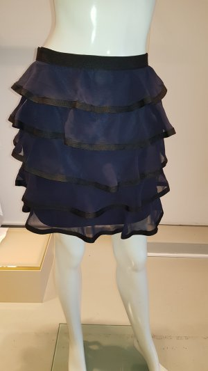 H&M Flounce Skirt black-blue