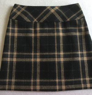 BC Jupe en laine noir-marron clair