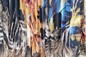 Simple Jupe plissée multicolore