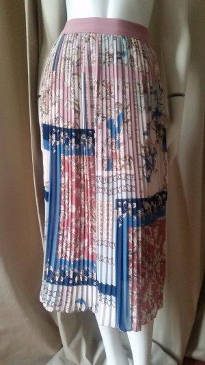 Pleated Skirt rose-gold-coloured-cornflower blue