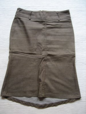 H&M Godet Skirt grey brown