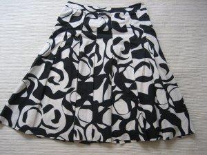 rock H&M plissee falten wiess schwarz gr. s 36 retro