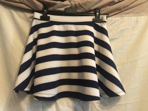 Forever 21 Circle Skirt white-dark blue