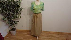 Maxi Skirt sand brown polyester