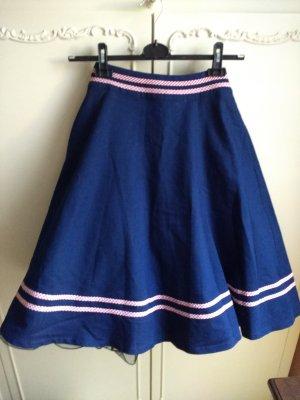 Falda circular rojo-azul