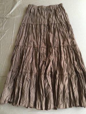 Jupe plissée brun foncé polyester