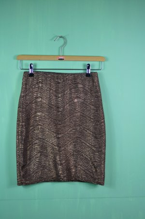Rock in Bronze / Highwaist Geschnitten / Mit Wellen